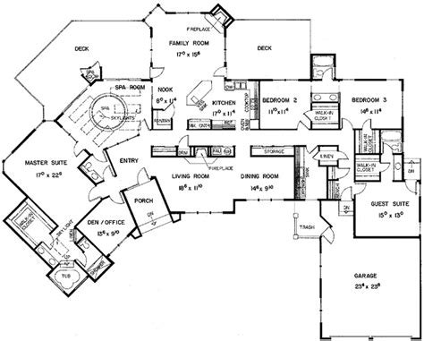 5 bedroom one story house plans floor plans aflfpw21128 1 story european home with 5 bedrooms 4 bathrooms and 3 453 total