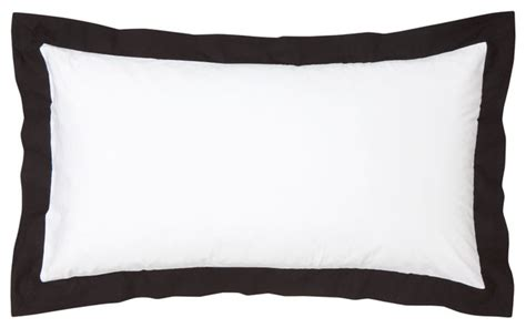 black bed pillows pillowcase white black modern bed pillows by h m