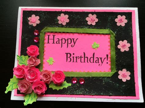 birthday cards how to make bday card start to finish and quilled paper tutorial