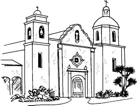 imagenes de una iglesia para colorear church building