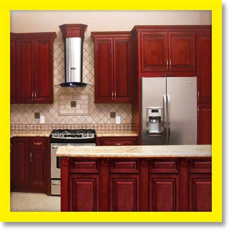 cherryville  wood kitchen cabinets cherry stained maple group sale kcch ebay