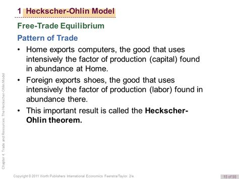 trade pattern theory 4 trade and resources the heckscher ohlin model 1