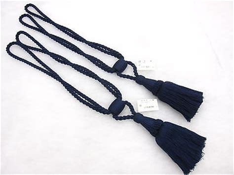 navy blue curtain tie backs 2 navy blue curtain tassel tie backs traditional rope