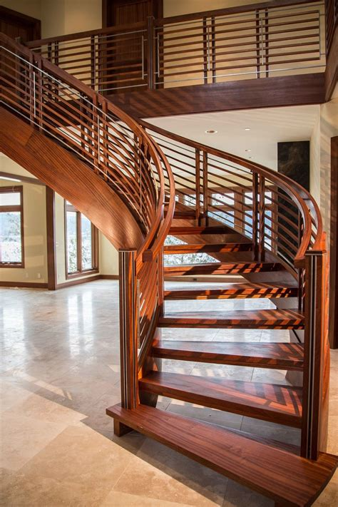 Wooden Stair Banisters Custom Staircases Stair Design Curved Stairs By Nk