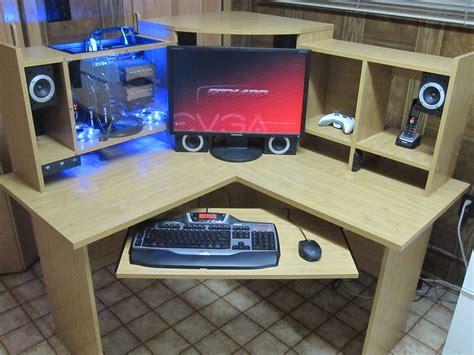 Custom Desk Computer by Custom Computer Built Inside Desk Shelving