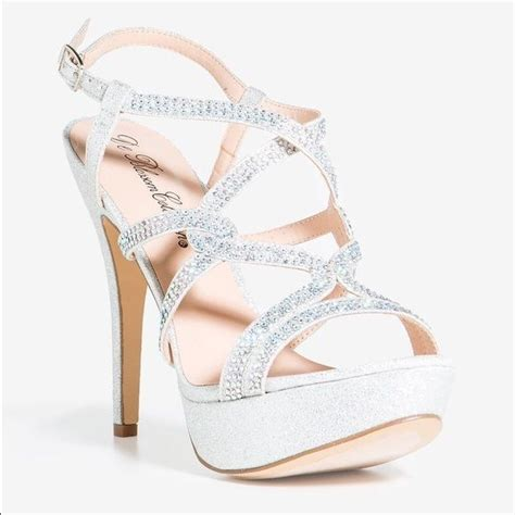 Formal High Heels 2 silver sparkly heels for prom qu heel