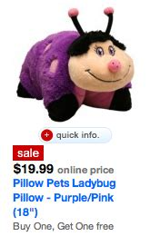 target deal buy one get one free pillow pet deal