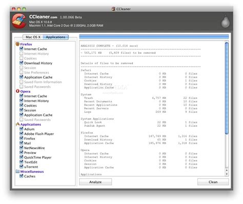 ccleaner for mac 1 08 softwarecrew software reviews remove unneeded files with ease softpedia