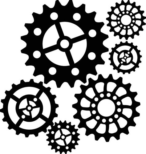 printable clock gears steunk gear stencil google search gears clocks