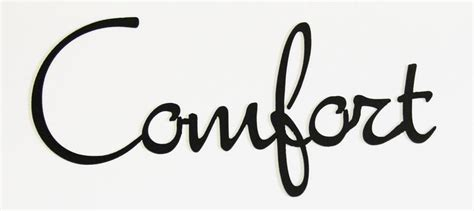 The Comfortable Words by Word Cutout Comfort
