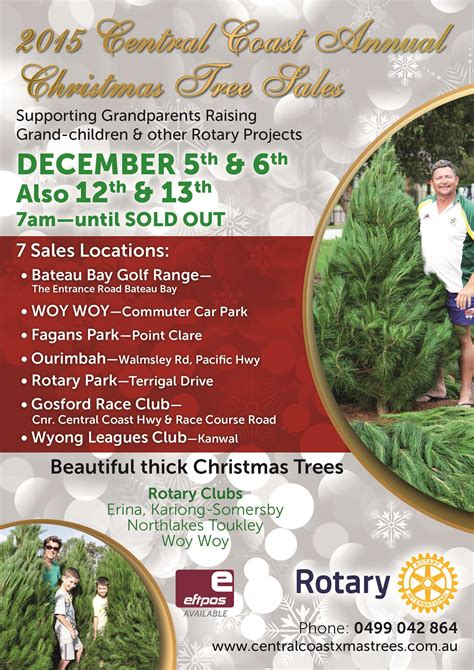 christmas trees for sale on the central coast rotary