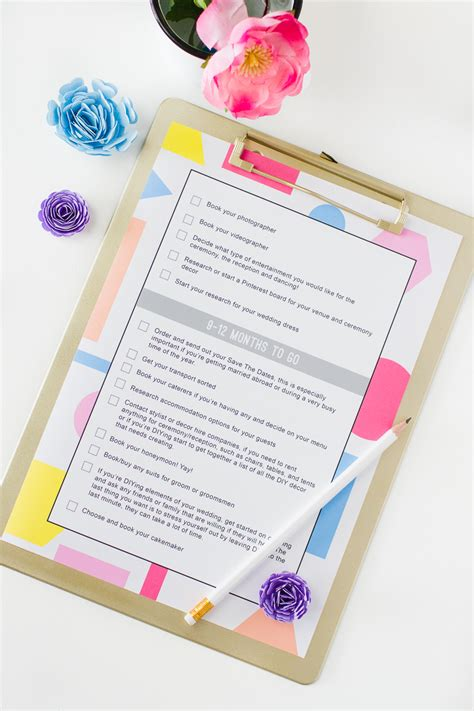 Wedding Checklist With Dates by Wedding Checklist Free Printable The Ultimate List To