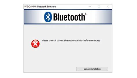 install windows 10 bluetooth driver fix please uninstall current bluetooth installation