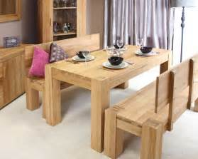 solid chunky oak dining