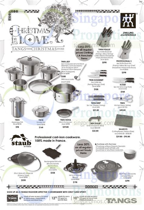 zwilling singapore tangs zwilling j a henckels staub kitchenware offers 14