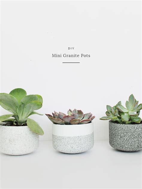 Handmade Hostess Gifts - decor hacks diy mini granite pots great handmade