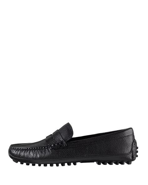 black cole haan loafers cole haan grant canoe loafer in black for lyst