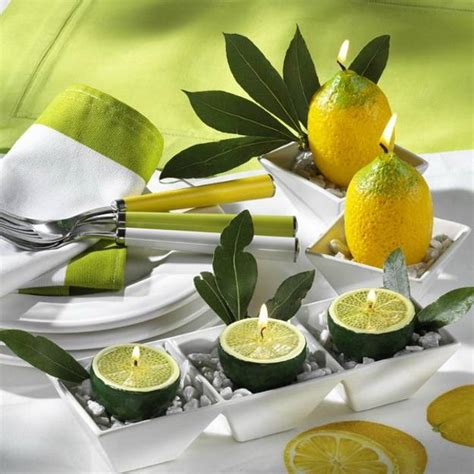 yellow decor 22 modern ideas for table decoration with lemons and