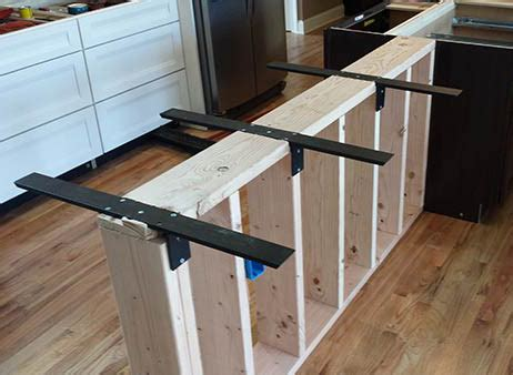 hidden countertop supports