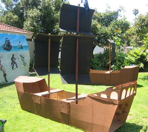 How To Make A Big Boat Out Of Paper - best 25 cardboard pirate ships ideas on