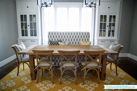Dining Room With Bench Seating Dining Room Decor Update Bench Chairs Pillows The Side Up