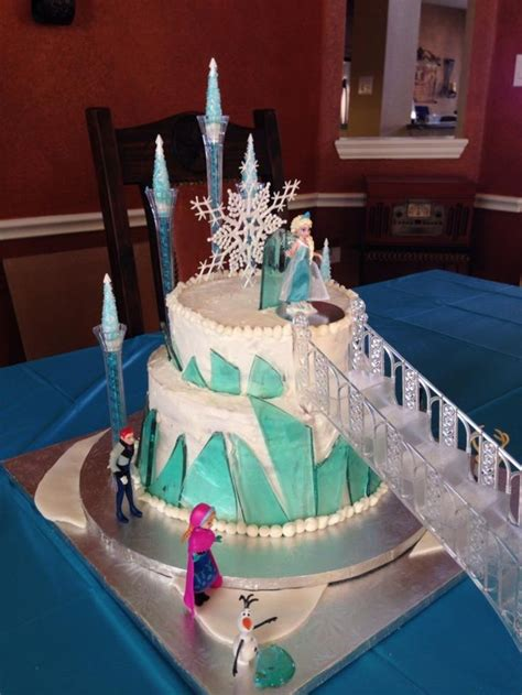 Frozen Cakes Decorations by Frozen Castle Cake With Stairs Birthday