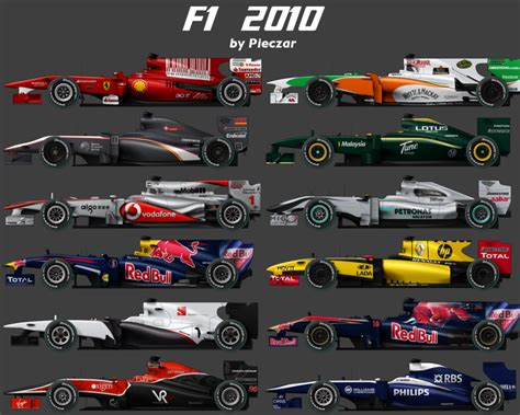F1 2010 carset by pieczaro on DeviantArt