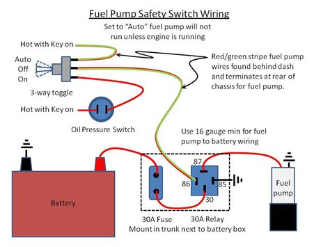 electric fuel relay wiring diagram how to wire a fuel