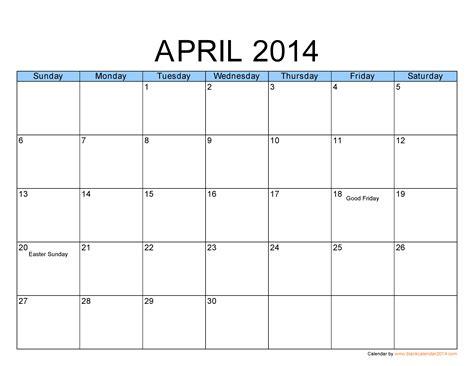 2014 holidays best photos of april 2014 calendar template april 2014