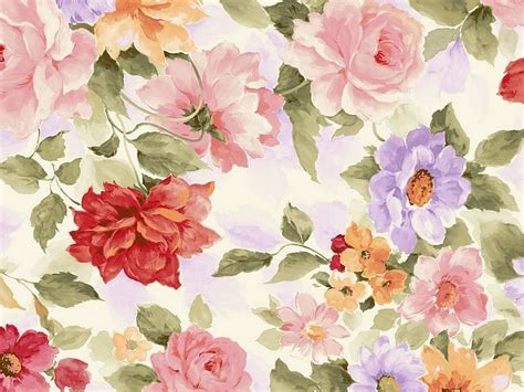 watercolor pattern flower sweet floral pattern design colors in japanese style vol