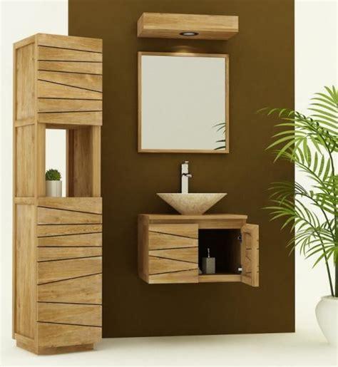 Badezimmer Unterschrank Conforama by Achat Vente Meuble De Salle De Bain Teck 224 Suspendre