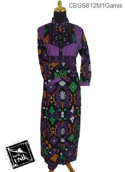 Baju Muslim Gamis Abaya Syar I Kerah Turtle baju batik sarimbit gamis motif kalimatan gamis batik murah batikunik