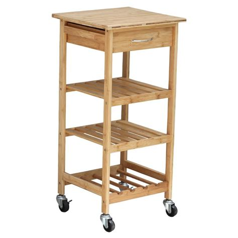 Kitchen Cart With Wine Rack by Oceanstar Bamboo Kitchen Cart With Wine Rack Bkc1378 The
