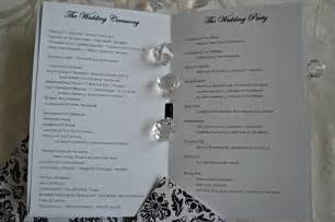 program wedding inspired i dos damask wedding programs for catholic wedding mass