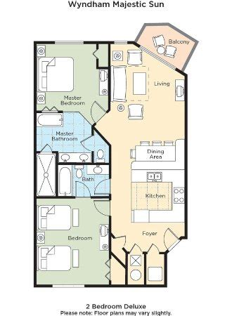 majestic beach resort floor plans guest room picture of wyndham vacation resorts majestic