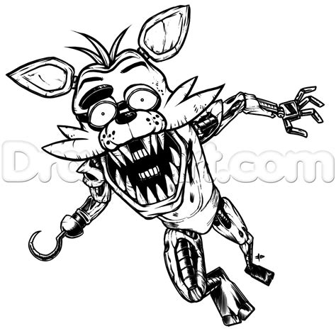 fnaf coloring pages foxy fnaf coloring pages all characters my human verison of