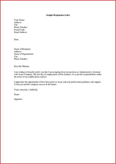 resignation letters format resignation letter format aboutplanning org