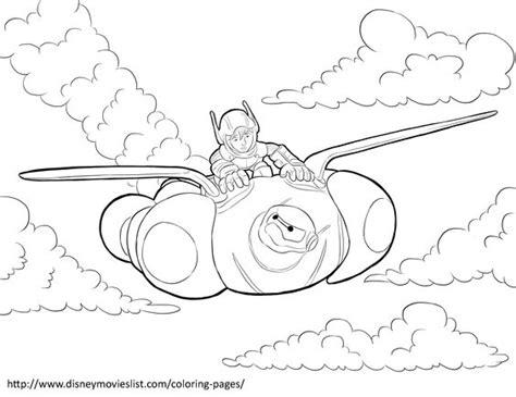 Flying Baymax Big 8 disney s big 6hiro and baymax flying coloring page