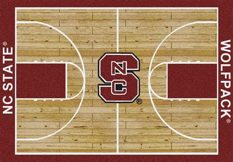 Carolina Traffic Court Search Buy Nc State Wolfpack Basketball Court Logo Rugs