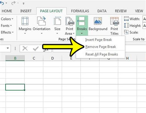 remove page layout lines excel how to remove a page break in excel 2013 live2tech