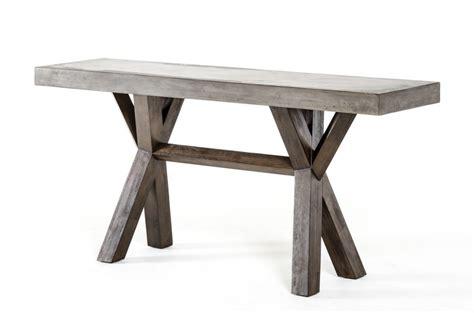 concrete top console table concrete wood console table modern furniture brickell