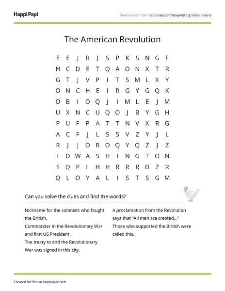 American Search Free American Revolution Worksheets Geersc