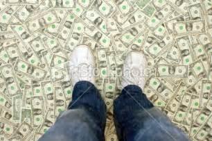 dollar floor standin on my money that s a cash 100 dollar bill
