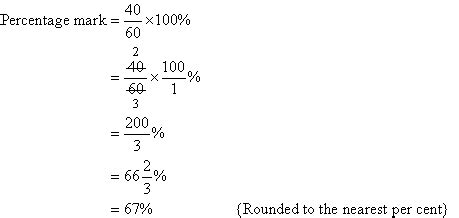 expressing one quantity as a percentage of another quantity