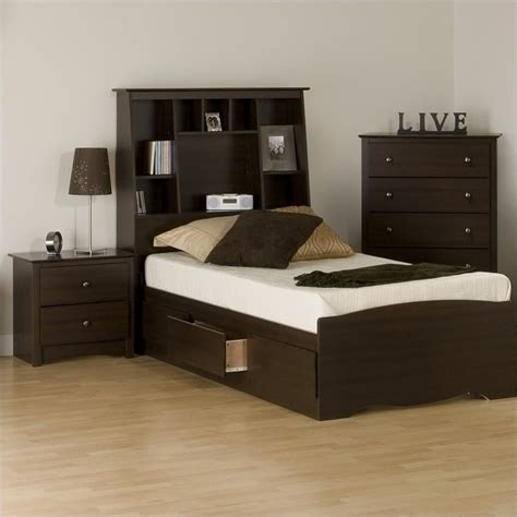 espresso bedroom set features