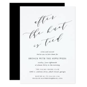 after wedding invitations announcements zazzle