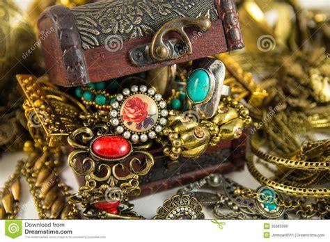 treasure chest stock image image of necklace bracelet
