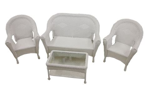 Resin Wicker Patio Chairs Sale Home Depot by White Resin Wicker Patio Furniture Set Chairs