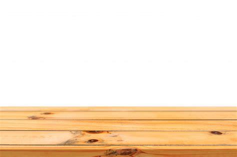 light wood table top empty light wooden board table top isolated on white