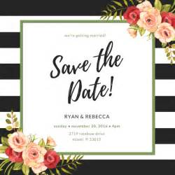 Templates For Save The Date Cards by Make Your Own Save The Date Cards Canva